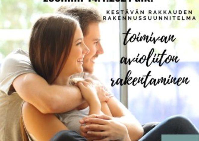 Toimivan avioliiton rakentaminen – 6x zoom koulutus 13.9.2021 alkaen